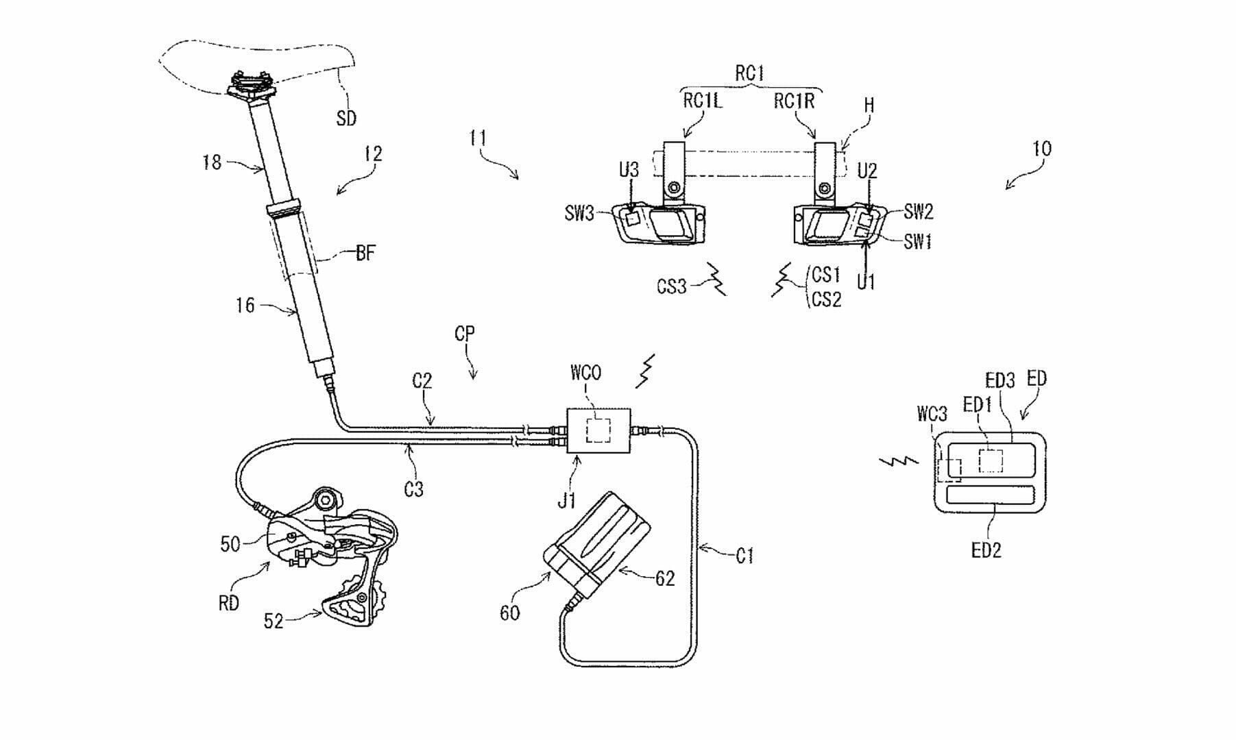 Shimano Patents a new Electronic Dropper Post