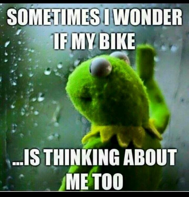 MTB Meme Wonder if my bike is thinking about me